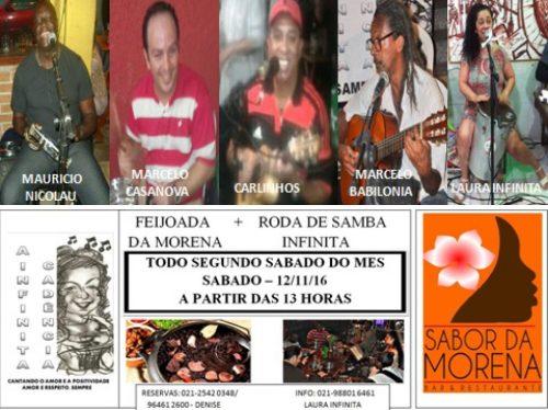 c5031d31986 Roda de Samba Infinita + Feijoada da Morena